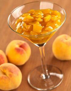 Персиковое желе с шампанским