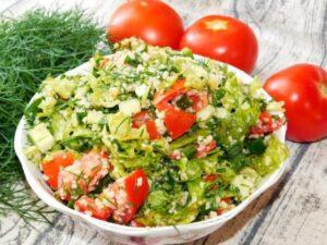 Салат с кус-кусом как гарнир к мясу гриль