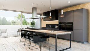 Темная кухня - баланс красоты и строгости