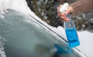 Химия - средства против замерзания оконных стекол