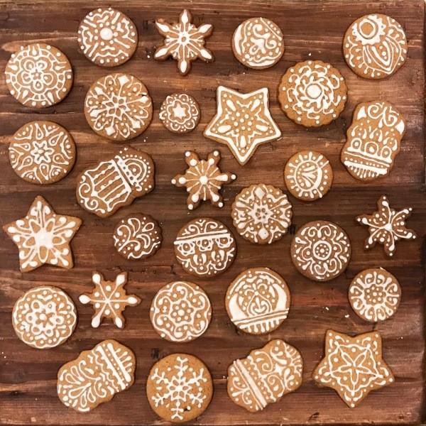 Рождественские имбирные пряники - рецепт приготовления