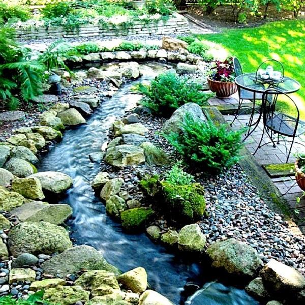 Строительство искусственного ручья - как сделать декоративный ручей