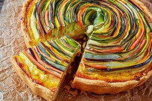 Овощной торт спираль