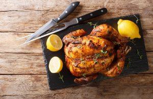 Ароматная курица на тимьяне с миндальной начинкой