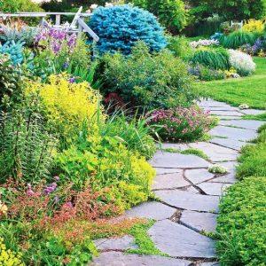Создаем садовые дорожки из камня своими руками